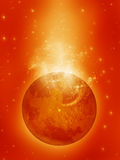 Planeta e nebulosa Foto de Stock