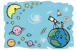 Planeta e universo Imagens de Stock