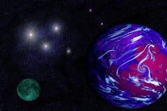 Planeta Earthlike extranjero imágenes de archivo libres de regalías