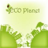 Planeta ecológico verde Imagen de archivo libre de regalías