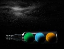 Planeta en botella fotos de archivo