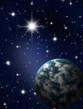 Planeta en cielo de las estrellas Fotos de archivo libres de regalías