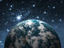 Planeta en el cielo stock de ilustración