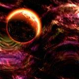 Planeta en espacio Foto de archivo
