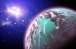 Planeta en espacio stock de ilustración