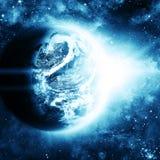 Planeta en espacio hermoso Imagen de archivo