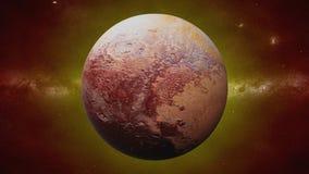 Planeta enano Plutón, planeta anterior de la Sistema Solar imágenes de archivo libres de regalías