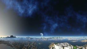 Planeta enorme da nebulosa e do estrangeiro filme