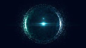 Planeta, espaço, estrela Fundo abstrato com bokeh verde-claro Animações do laço ilustração do vetor