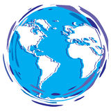 Planeta estilizado da terra - globo Foto de Stock Royalty Free