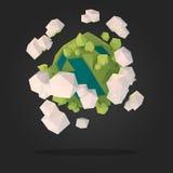 Planeta estrangeiro abstrato Imagens de Stock