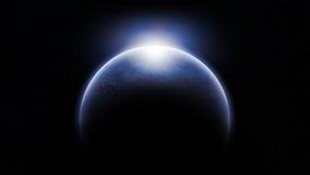 Planeta estrangeiro frio ilustração royalty free