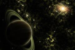 Planeta estrangeiro no espaço profundo Fotografia de Stock Royalty Free