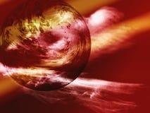 Planeta estranho nas luzes Imagem de Stock