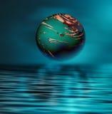 Planeta extraño ilustración del vector