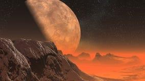 Planeta extranjero ilustración del vector