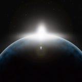 Planeta frío en espacio profundo ilustración del vector