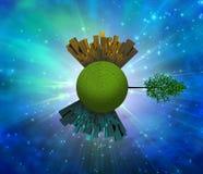 Planeta herboso verde Fotos de archivo