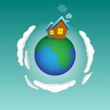Planeta home Imagens de Stock
