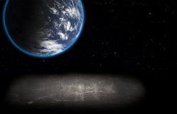 Planeta i abstrakt powierzchnia. Obrazy Royalty Free