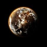 Planeta i galaxy royalty ilustracja