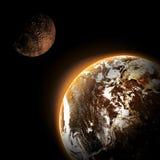 Planeta i galaxy ilustracja wektor