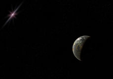 Planeta i gwiazda Obrazy Royalty Free