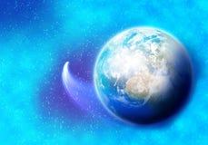 Planeta i satelita Obrazy Royalty Free