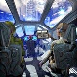 Planeta interior y extranjero de la nave espacial Imagenes de archivo