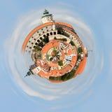 Planeta kościół w mieście Mikulov Zdjęcie Royalty Free