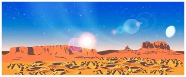 Planeta krajobraz royalty ilustracja