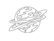 Planeta, linhas, vetor Imagem de Stock