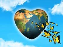 Planeta loving Fotografia de Stock