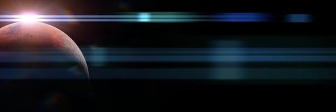 Planeta Mąci przy wschodu słońca sztandarem, elementy ten wizerunek mebluje NASA Royalty Ilustracja