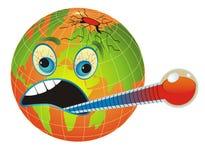 Planeta malsano, enfermo. Imagen de archivo libre de regalías