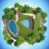 Planeta mero 3D Imagem de Stock Royalty Free