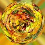 Planeta minúsculo das folhas de outono alaranjadas da queda Fotografia de Stock