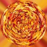 Planeta minúsculo das folhas de outono alaranjadas da queda Fotografia de Stock Royalty Free