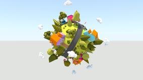 Planeta minúsculo de gerencio HD ilustração do vetor