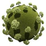 Planeta miniatura con la vegetación del parque de la arboleda Fotos de archivo libres de regalías