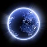 Planeta na noite Foto de Stock