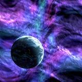 Planeta na tle kosmos Obrazy Stock
