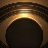 planeta nazywa Saturna ilustracji
