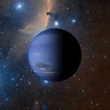 Planeta Netuno do sistema solar na rendição do fundo 3d da nebulosa Elementos desta imagem fornecidos pela NASA Imagens de Stock