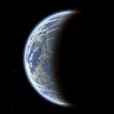 Planeta no céu ilustração do vetor
