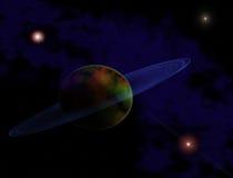 Planeta no espaço Imagem de Stock