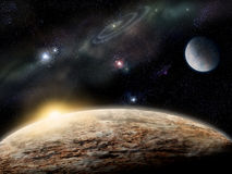 Planeta no espaço