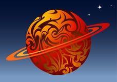 Planeta no espaço Imagens de Stock Royalty Free