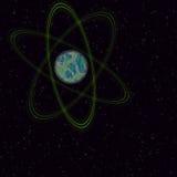 Planeta no espaço fotos de stock