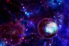 Planeta no espaço ilustração do vetor